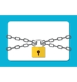 The gray chain and padlock vector image