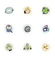Data icons set pop-art style vector image
