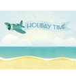 beach plane vector image