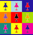 mannequin with dress sign  pop-art style vector image