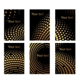 Business cards set with golden dots vector image vector image