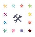 repair flat icons set vector image