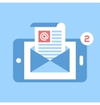 mobile email vector image