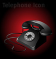 old telephone vector image