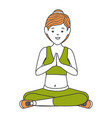athlete woman doing yoga vector image