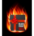 Black Friday Sale gifbox vector image