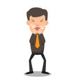 business man coughing he has sick and fever vector image