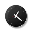 classic round black wall clock icon vector image