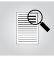 Document With Magnifying Glass Icon vector image
