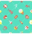 Flat Dating Love Wedding Seamless Background vector image