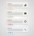 Modern paper infographic options banner Design vector image