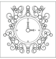 old vintage clock on white background vector image