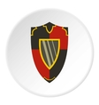Steel military shield icon flat style vector image