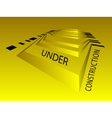Under construction background vector image