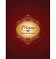 Stylish menu design vector image vector image