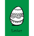 egg on green vector image vector image
