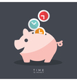 Time is Money Piggy Bank vector image