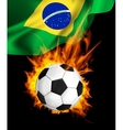 Soccer ball in fire vector image