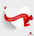 Happy fathers day card design with heart and vector image vector image
