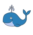 Happy cartoon whale vector image
