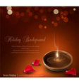 romantic burning candles vector image
