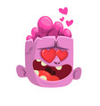 cartoon pink zombie in love vector image