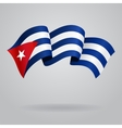 Cuban waving Flag vector image