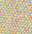 Full color seamless geometric pattern with hexagon vector image