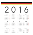 German square calendar 2016 vector image