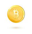 golden bitcoin money realistic 3d bitcoin vector image