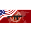gun control m16 riffle anti war america USA flag vector image