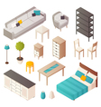 Isometric Home Furniture Set vector image