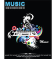 Music background with dj vector image