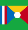 national flag of la reunion vector image