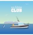Sea marlin fishing on the boat vector image
