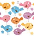 cartoon birds pattern vector image vector image