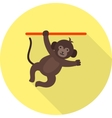 Monkey Performing vector image