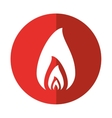 fire flame burning hot design red circle vector image