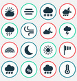 nature icons set collection of moisture vector image