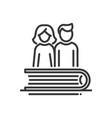 education - modern single line icon vector image