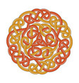 celtic circle cross vector image