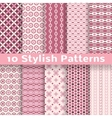 Stylish seamless patterns tiling Pink color vector image vector image