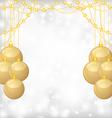 balls gold bead vector image vector image