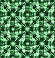 Abstract seamless blue green metallic viking like vector image