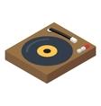 DJ console isometric 3d icon vector image