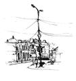 hand drawn urban sketch vector image