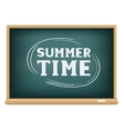 blackboard summer time vector image vector image