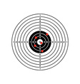 black and white target with red holes vector image