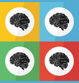brain icon flat design vector image