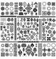 Floral filigree Elements set vector image